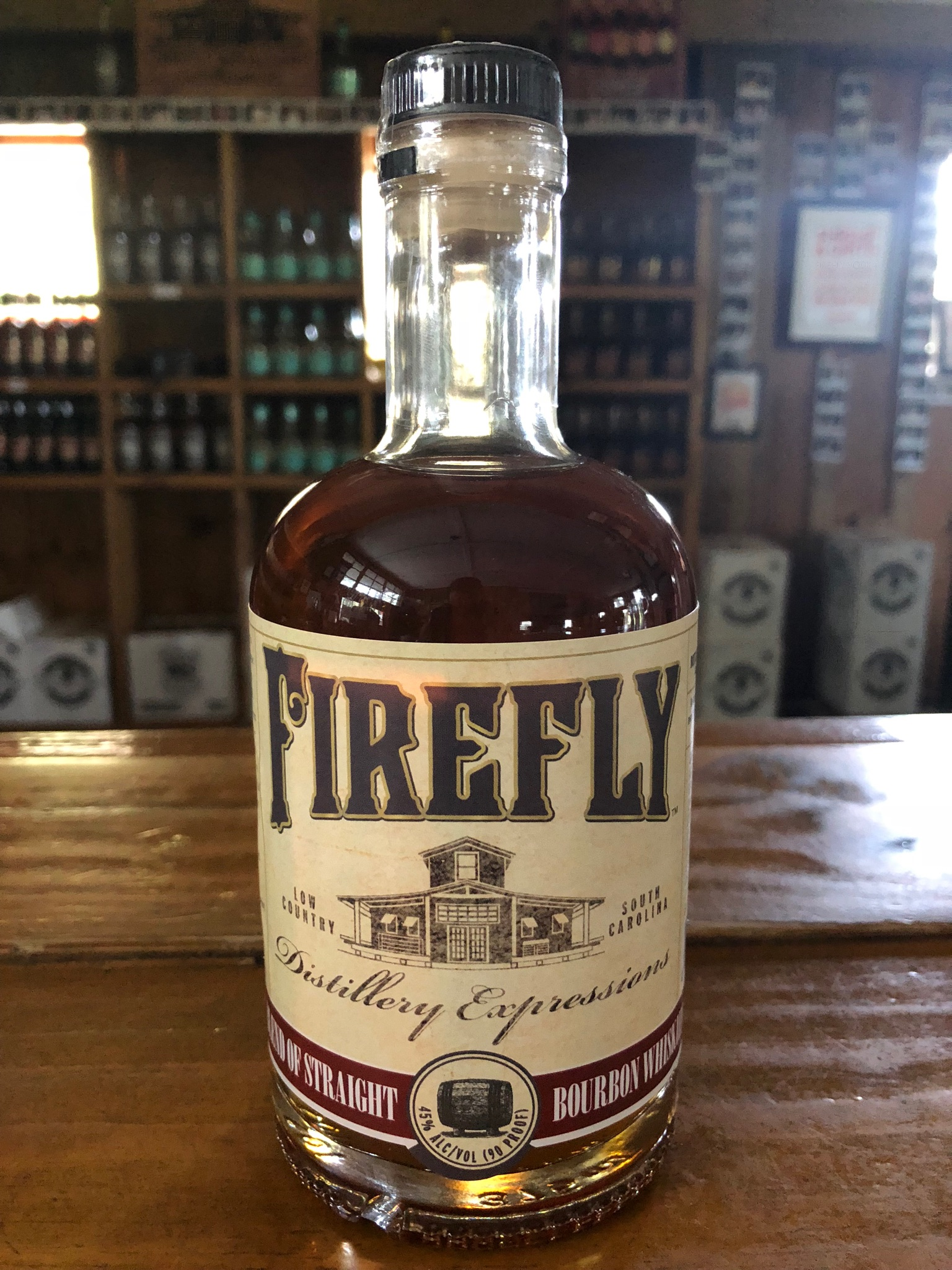 Firefly Distillery Expressions Bourbon Bottle